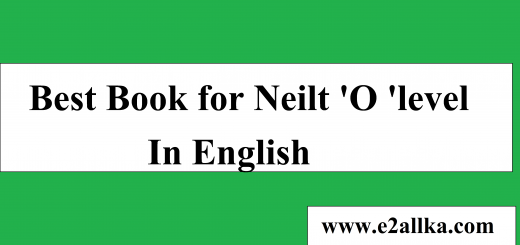 Best Book for Neilt O level In English