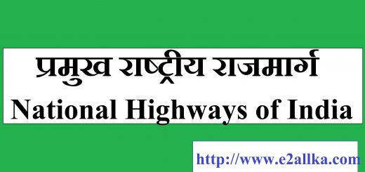 List of Important National Highways of India